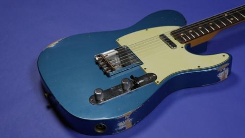 Fender custom shop 1963 custom telecaster relic faded lake image 1 publicscrutiny Image collections