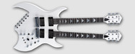 B.C Rich Double Neck Bich - Pearl White