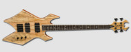 B.C Rich Warlock Paolo 4 String Bass Spalted Maple - Natural