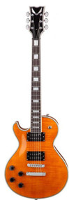 Dean Thoroughbred Deluxe - Trans Amber Lefty