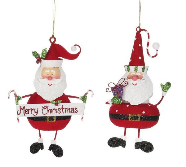 Santa Ornament, 7ƒ? (2 asst)