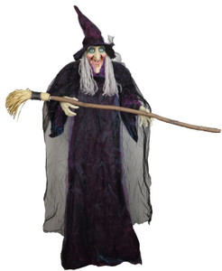 Standing Witch with Broom 70in