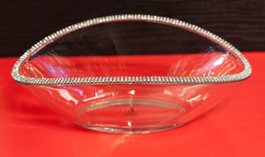 Crescent-Shaped Bowl with Cut Crystals by Alan Lee. Part of the Princess Collection.