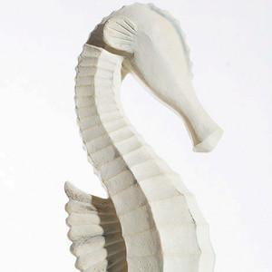 White Wooden Seahorse Decor
