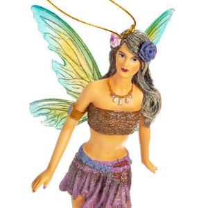 "Bella Fairy Ornament by December Diamonds. Stands approx 6"" tall."