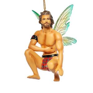 "Lexy Fairy Ornament. Kneels approx 4"" tall"
