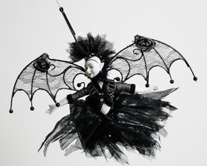 Bat Fairy Halloween Ornament