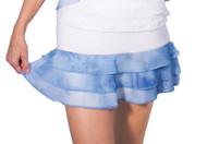 Helena Mesh Layered Skirt Blue Tie Dye