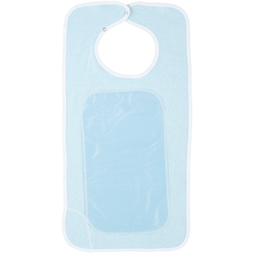 Terry Cloth Bib with Waterproof Lining-Blue