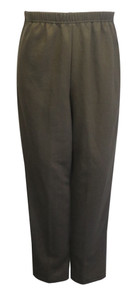 Womens Adaptive Side Zipper Fleece Pants, Brown
