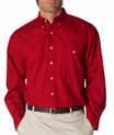 maroon-Front Velcro shirt
