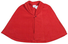 Polar Fleece Cape or Bedjacket, Red