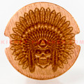 Limitless Chief Skull Copper Button