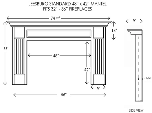 Wood Fireplace Mantels Mantel Surrounds Leesburg