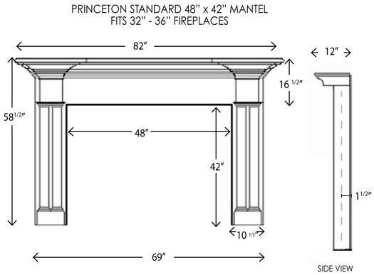 Wood Fireplace Mantels Princeton Standard Fireplace
