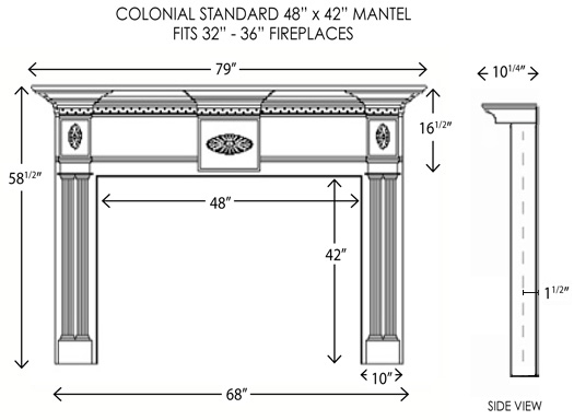 Wood Fireplace Mantels Fireplace Surrounds Colonial Standard Mantelcraft