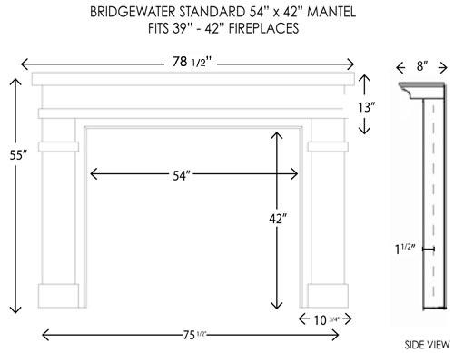 Wood Fireplace Mantels | Bridgewater Standard