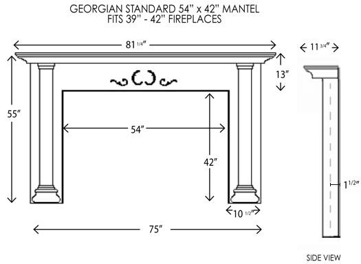 Wood Fireplace Mantels Fireplace Mantel Georgian Standard Mantelcraft