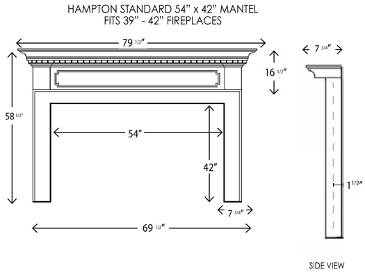 Wood Fireplace Mantels Fireplace Mantels Hampton Standard Mantelcraft