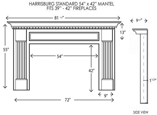 Wood Fireplace Mantels Fireplace Mantel Harrisburg Standard Mantelcraft