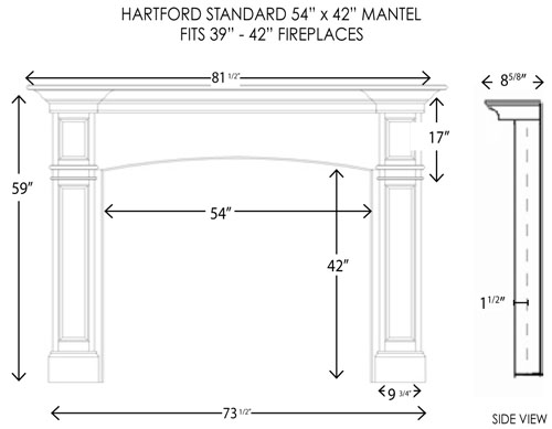 wood fireplace mantels fireplace mantel hartford standard