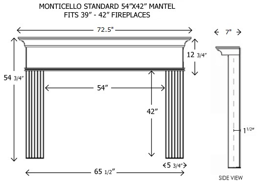 ... 54 3 4 shelf length with 48 opening width 66 1 2 shelf length with 54