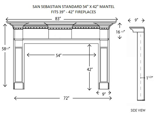 wood fireplace mantels fireplace mantle san sebastian. Black Bedroom Furniture Sets. Home Design Ideas