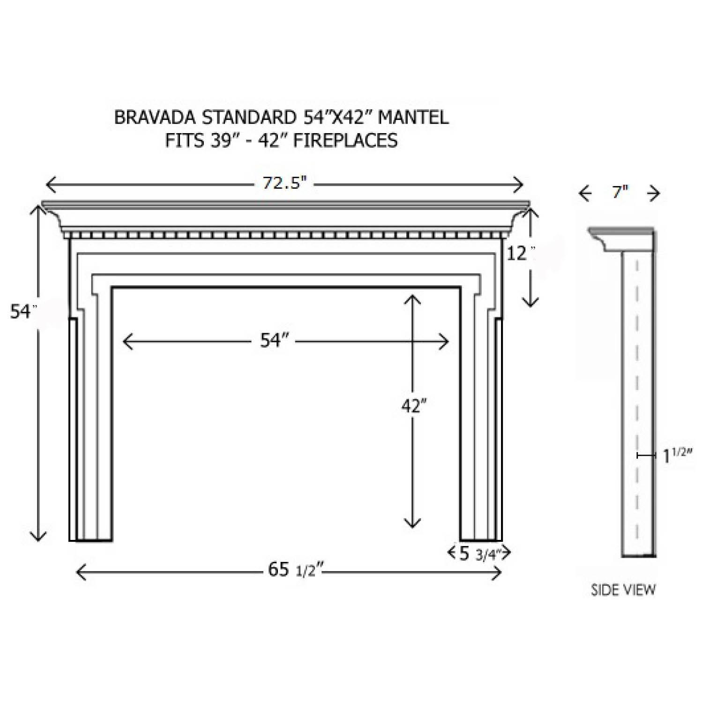 Wood Fireplace Mantels Builder Mantels Bravada Standard Mantelcraft