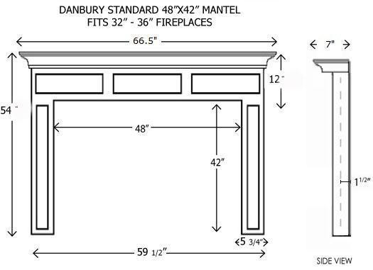 Wood Fireplace Mantels | Builder Mantels | Danbury Standard ...