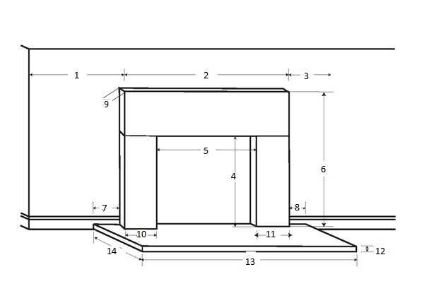 Fireplace Mantel Worksheet | Sizing | Request a Quote
