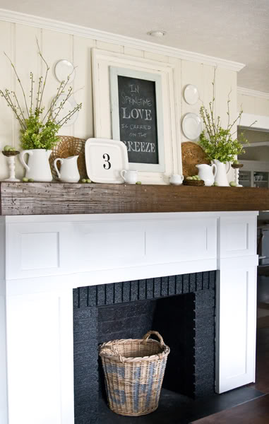 spring ideas for your fireplace mantel shelves mantelcraft. Black Bedroom Furniture Sets. Home Design Ideas