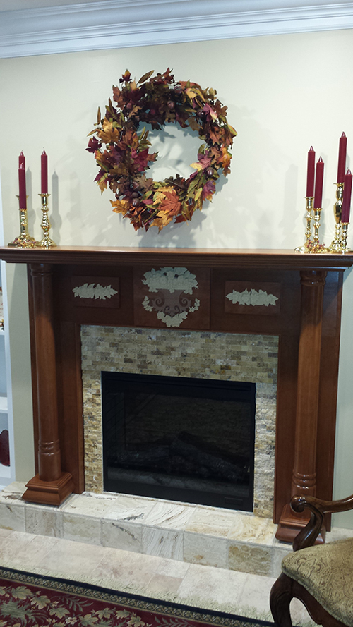 Georgian Wood Mantel with a Cherry Cinnamon finish