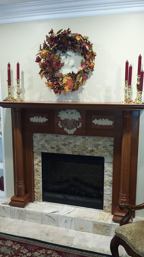 Georgian Wood Mantel with a Cherry Cinnamon finish