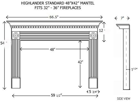 Wood Fireplace Mantels Builder Mantels Highlander Standard Mantelcraft
