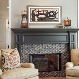 A can of paint can turn your fireplace mantel into the gorgeous focal point it was meant to be.  And we are not just talking about your basic white. A new paint color can dramatize your mantel.  Mantel Craft offers beautiful designs cust