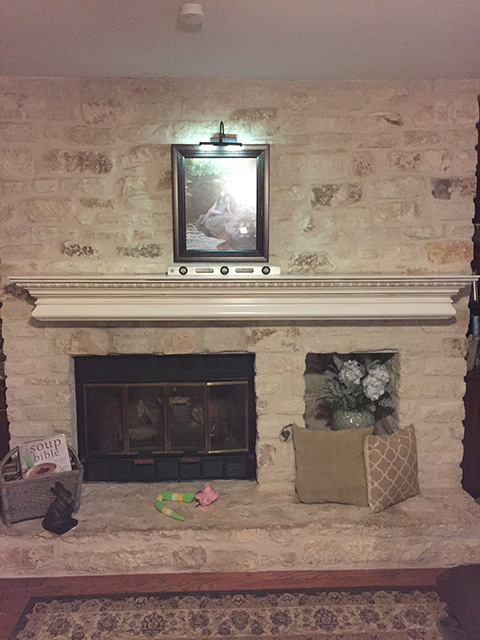 Mantel shelf after pic