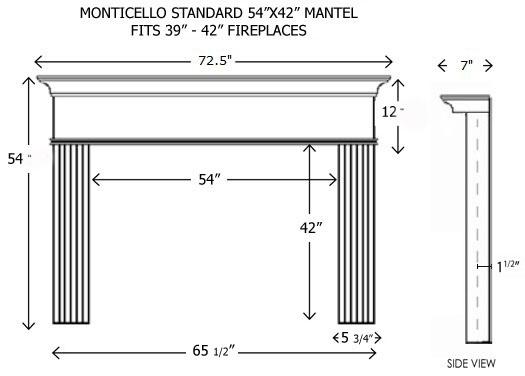 wood fireplace mantels builder mantels monticello. Black Bedroom Furniture Sets. Home Design Ideas