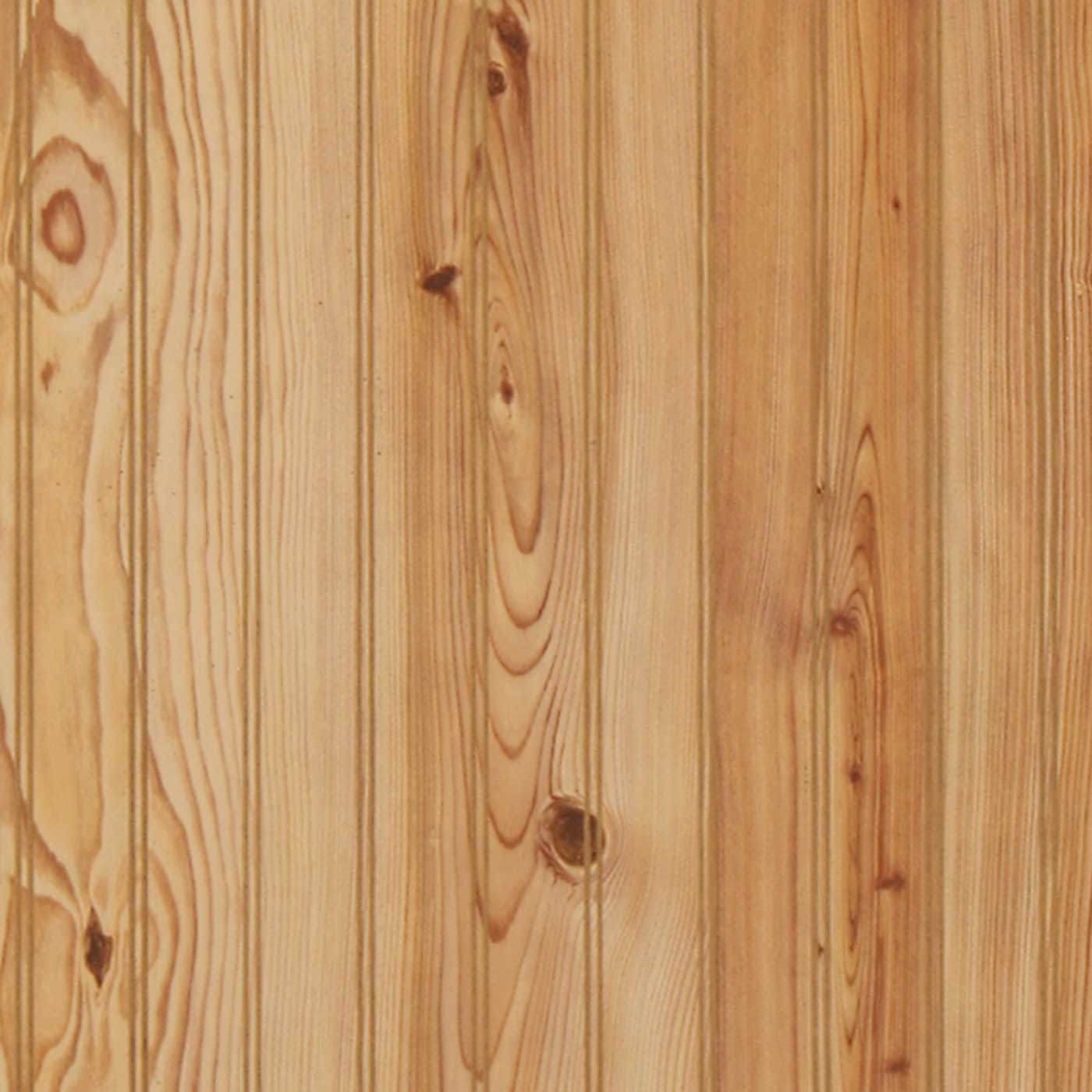Detailed image of our 4 x 8 Sheets of Plywood paneling with a pine pattern  laminate - Beaded Wood Paneling 4 X 8 Wall Panels Plywood