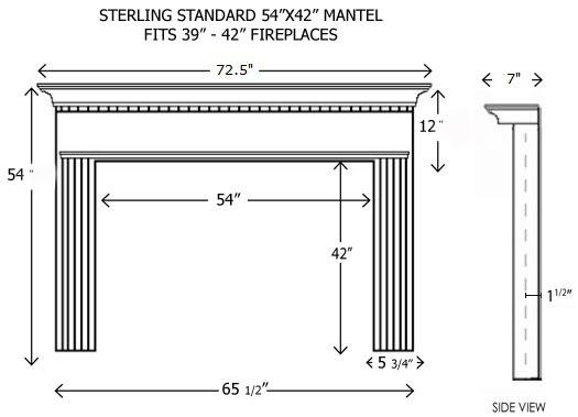 wood fireplace mantels builder mantels sterling. Black Bedroom Furniture Sets. Home Design Ideas