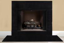 Galaxy Black Granite Fireplace Surround