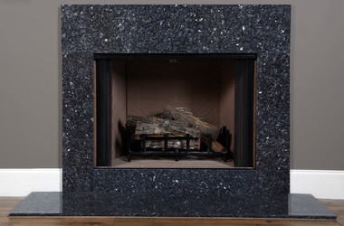 fireplace slate. The Blue Pearl granite is shown with a riser  Fireplace Facings Granite Marble Slate Surrounds