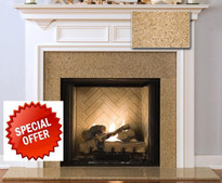 Golden Sand Granite with our Williamsburg Mantel