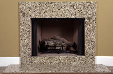 Granite For Fireplace Surround.  Venetian Gold Granite Fireplace Surround Facing MantelCraft