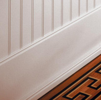 "Beadboard shown with 8"" baseboard."