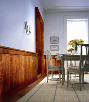 Classic Rustic wainscoting shown in dining room.