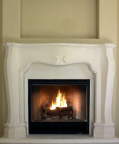 The Degaul fireplace mantel has French design elements.
