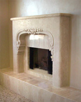 Venetion thin cast stone mantel.