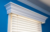 Ashton wood cornice, painted white