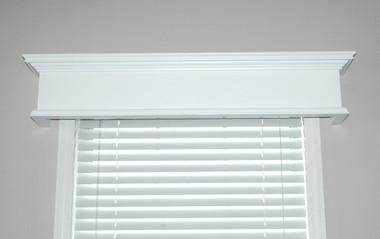 Colony window cornice in semi gloss white