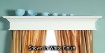 The Plymouth custom cornice shown in white.